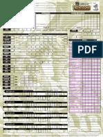 Pathfinder d20 Character Sheet