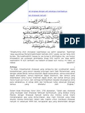 Bacaan Sholawat Nariyah Lengkap Dengan Arti Sekaligus Manfaatnya
