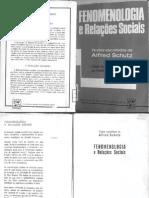 Alfred Schutz - Fenomenologia e Relações Sociais