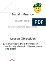 Lesson Three - Factors Affecting Conformity