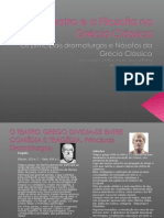O Teatro e a Filosofia na Grécia Clássica. A Arte