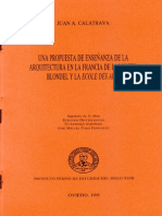 Juan Calatrava Blondel y Ecole Des Arts