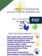 PB.1. Komunikasi & Konseling