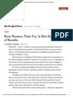 Boris Nemtsov, Putin Foe, Is Shot Dead in Shadow of Kremlin - NYTimes