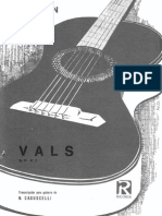 Chopin Vals Arr Tarrega for Classical Guitar