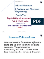 Lecture 13 Inverse Z-transform