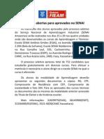 SENAI_Matriculas Abertas