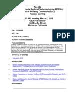 TAC MPRWA Agenda Packet 03-02-15