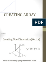 Creating Array