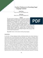 English Language Teachers- Preferences in Presenting Target Language Grammar (2).pdf