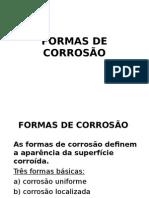 Formas de Corrosão