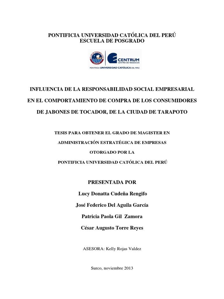 INFLUENCIA DE LA RESPONSABILIDAD SOCIAL EMPRESARIAL EN EL