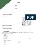 Test Paper Cls 3
