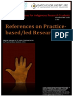 References on Practice based / led Research. by Dr Sandy O'Sullivan
