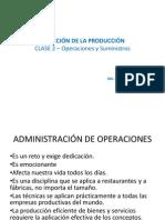 Operaciones y Suministros