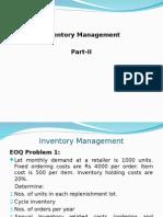 SCM Inventory Part -II