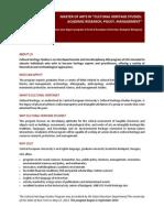 CEU CulturalHeritagStudies Flyer