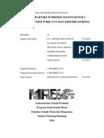 Laporan Praktikum Proses Manufaktur 2 - Modul 4 (EDM) - Teknik Mesin Institut Teknologi Bandung