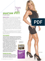 """SHE WENT FROM 'SKINNY FAT' TO SUPER FIT!""  MARCH 2015 MAX SPORTS & FITNESS MAGAZINE"