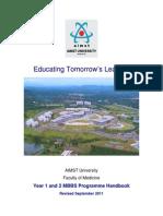 MBBS Programme Handbook Revised Sep 2011 Distribution Version.pdf