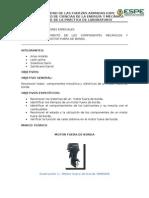 Informe Del La Practica Motor Fuera de Borda Funcionando