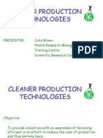 Cleaner Production Technologies (KULIAH 26 SEPT 2011)