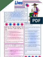 Saving Lives Reading Comprehension Grammar Present Perfect (1)
