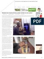 Malawi Man Invents Nsima Cooker Similar to Rice Cooker _ Malawi Nyasa Times – Malawi Breaking News in Malawi