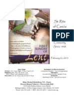 St. Rita Parish Bulletin 2/22/2015
