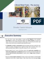 FDI in Multi Brand Retail Trade - The Journey, September 2012