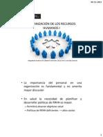 Organización de Los Recursos Humanos i