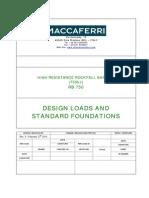 Design Loads and Standard Foundations_RB 750 Rev.0