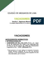 Derecho Vacaciones