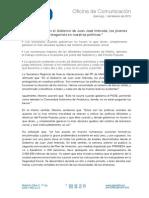 Nota de Prensa de Isabel Moreno