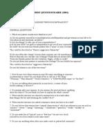 Questionnaire for Cis Men