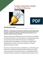 Putin Critic, Russian Opposition Leader Boris Nemtsov Killed in Moscow