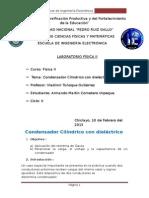 Practica de laboratorio Condensador Cilíndrico Con Dieléctrico