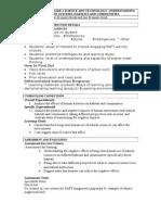 di lesson plan for portfolio