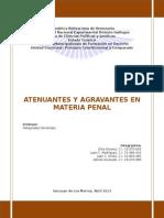 Atenuantes y Agravantes en Materia Penal