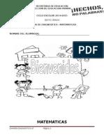 Examen de Diagnostico - Matematicas - 6to Grado