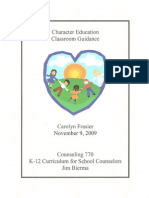 character education class curriculum