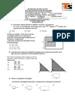 Examen Bim 1 Reactivos Telesecundaria