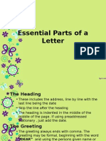 Essential Parts of a Letter