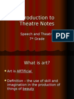 Introduction to Theatre Notes