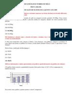 Primeiro Simualdo de Matematica Quinto Ano 2009