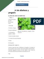Receta de Mezcalini de Albahaca y Jengibre