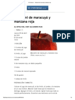 Receta de Mezcalini de Maracuyá y Manzana Roja