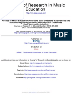 Access to Music Education