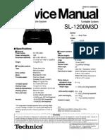Technics SL1200M3D Service Manual