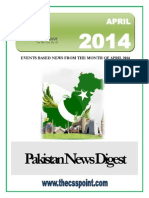 Pakistan News Digest April - 2014
